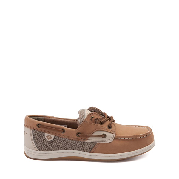 Main view of Sperry Top-Sider Songfish Boat Shoe - Little Kid / Big Kid - Tan