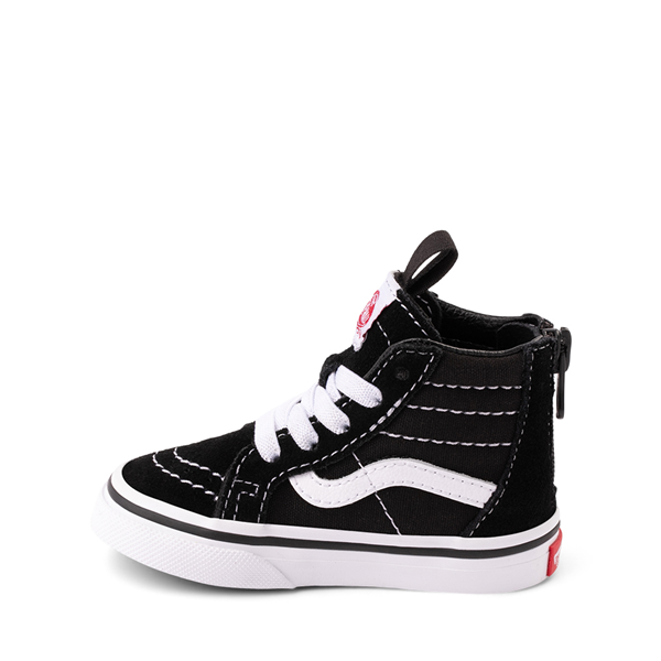 alternate view Vans Sk8 Hi Skate Shoe - Baby / Toddler - BlackALT1