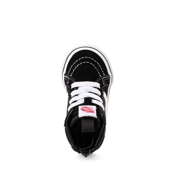 alternate view Vans Sk8 Hi Skate Shoe - Baby / Toddler - BlackALT2