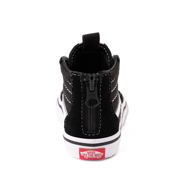 alternate view Vans Sk8 Hi Skate Shoe - Baby / Toddler - BlackALT4