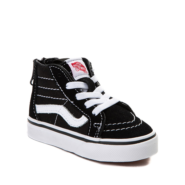 alternate view Vans Sk8 Hi Skate Shoe - Baby / Toddler - BlackALT5