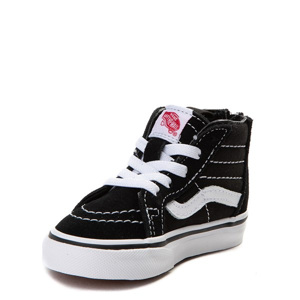 alternate view Vans Sk8 Hi Skate Shoe - Baby / Toddler - BlackALT3