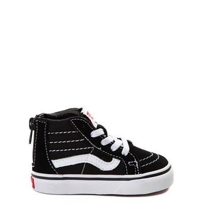 Main view of Vans Sk8 Hi Skate Shoe - Baby / Toddler - Black / White