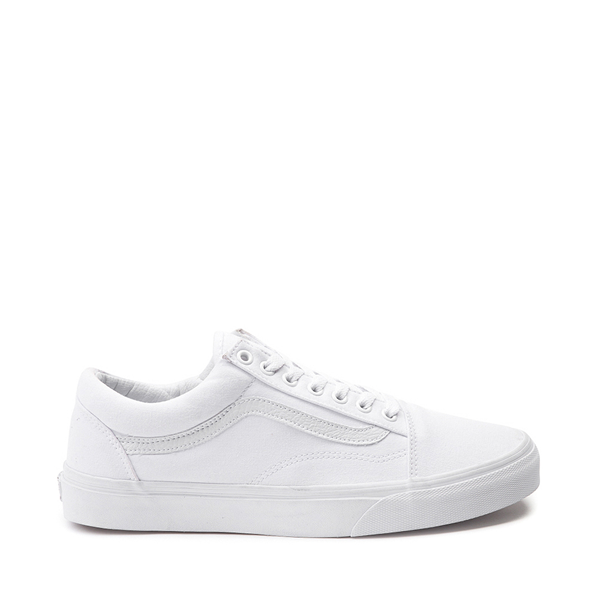 Main view of Vans Old Skool Skate Shoe - White Monochrome