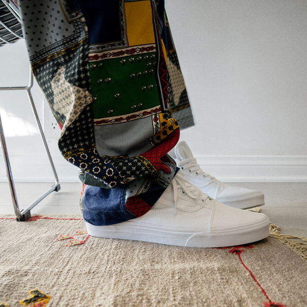 alternate view Vans Old Skool Skate Shoe - White MonochromeALT1B