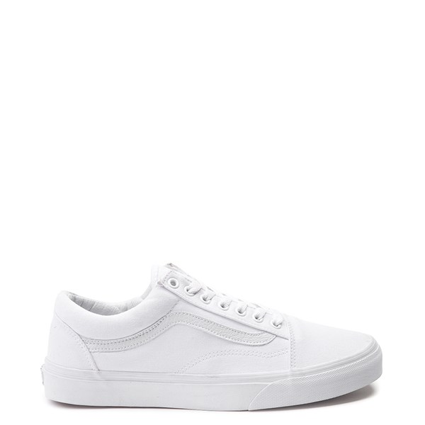 Default view of Vans Old Skool Skate Shoe - White Monochrome