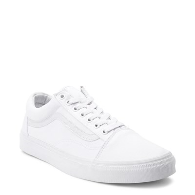 Alternate view of Vans Old Skool Skate Shoe - White Monochrome
