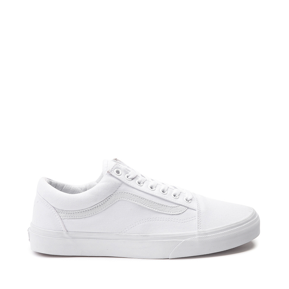 Vans Old Skool Skate Shoe - White Monochrome