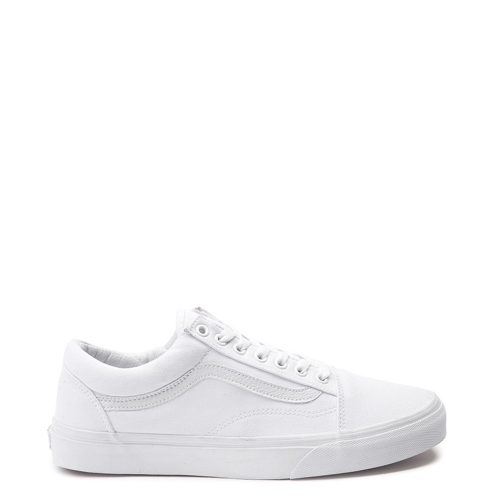 Vans Old Skool Skate Shoe , White Monochrome