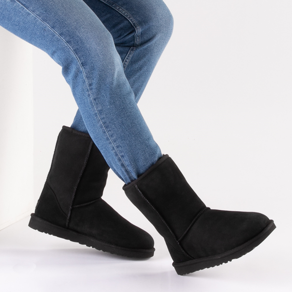 alternate view Womens UGG® Classic Short II Boot - BlackB-LIFESTYLE1