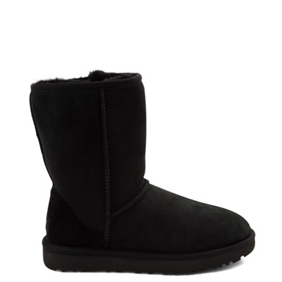 Main view of Womens UGG Classic Short II Boot in Black