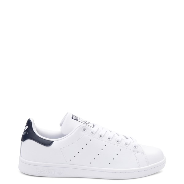 Mens adidas Stan Smith Athletic Shoe - White / Navy