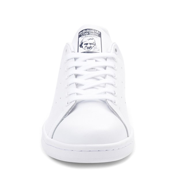 alternate view Mens adidas Stan Smith Athletic Shoe - White / NavyALT4