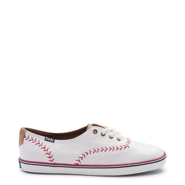 Womens Keds Champion Pennant Leather Casual Shoe - White