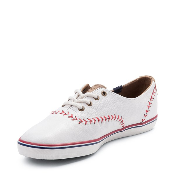 alternate view Womens Keds Champion Pennant Leather Casual Shoe - WhiteALT3