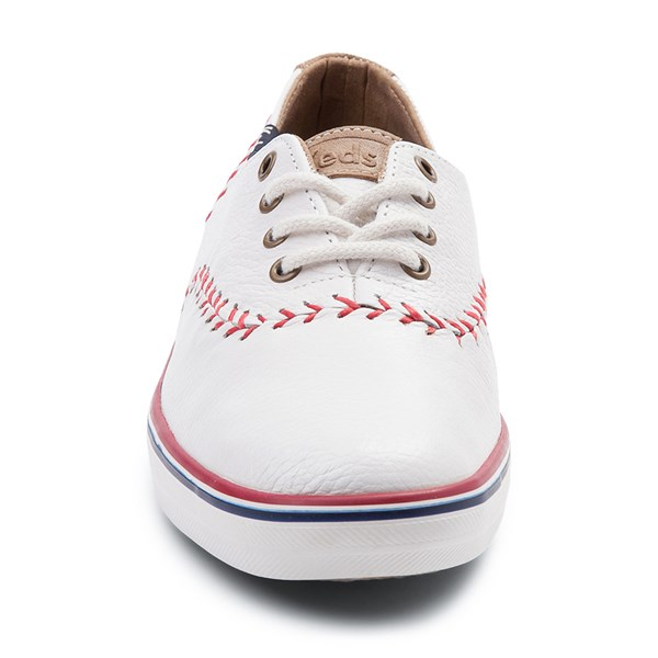 alternate view Womens Keds Champion Pennant Leather Casual Shoe - WhiteALT4