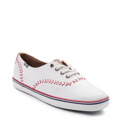 Alternate view of Womens Keds Champion Pennant Leather Casual Shoe - White