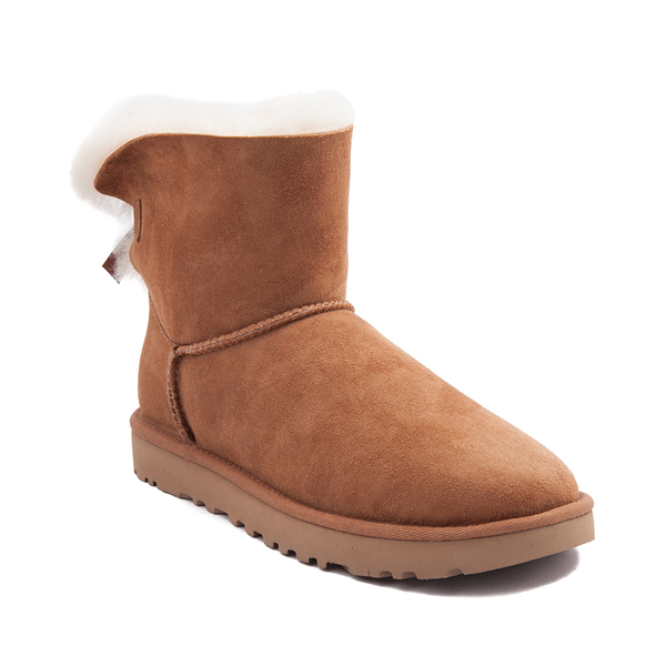 alternate view Womens UGG® Mini Bailey Bow II Boot - ChestnutALT5