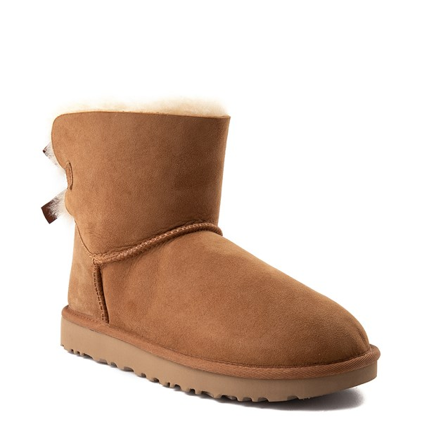 alternate view Womens UGG® Mini Bailey Bow II Boot - ChestnutALT1
