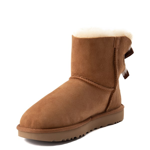 alternate view Womens UGG® Mini Bailey Bow II Boot - ChestnutALT3