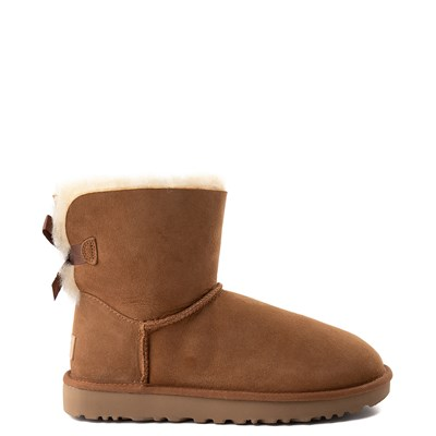 Main view of Womens UGG Mini Bailey Bow II Boot in Brown