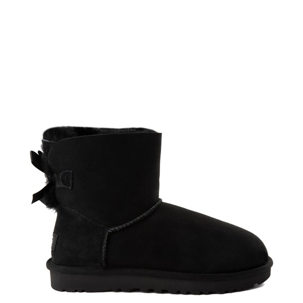 Womens UGG® Mini Bailey Bow II Boot - Black