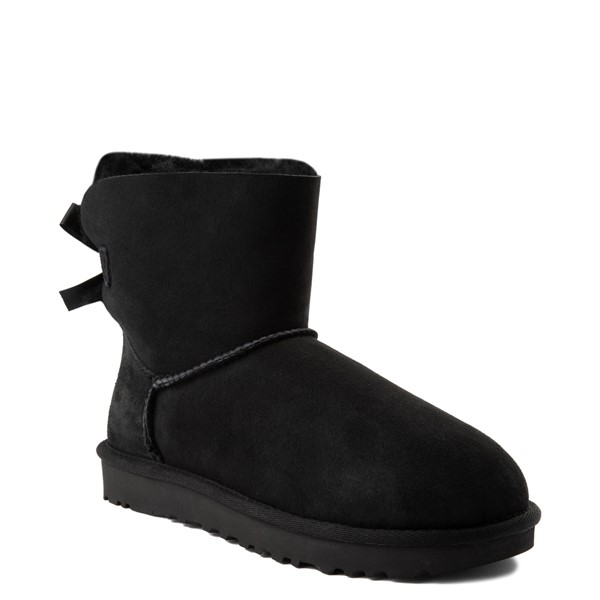 alternate view Womens UGG® Mini Bailey Bow II Boot - BlackALT1