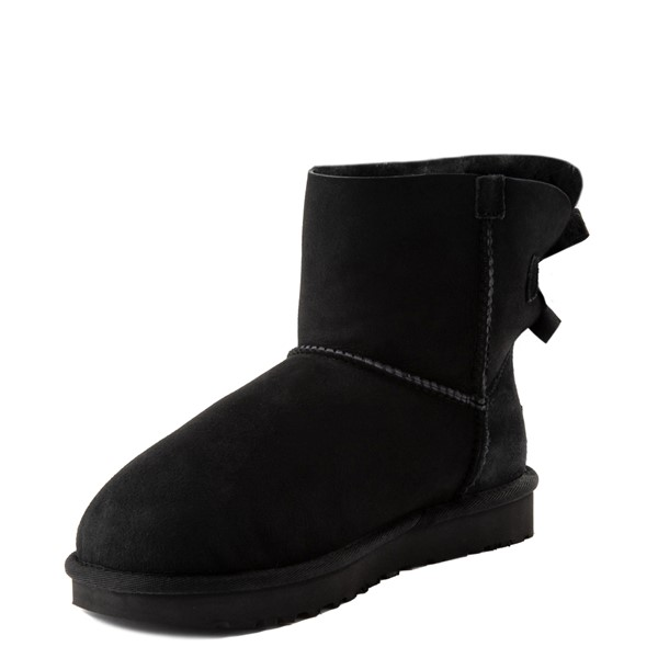 alternate view Womens UGG® Mini Bailey Bow II Boot - BlackALT3