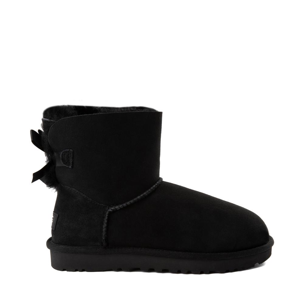 Womens UGG® Mini Bailey Bow II Boot - Black