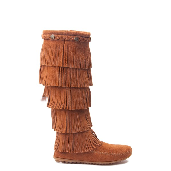 Womens Minnetonka 5 Layer Fringe Boot