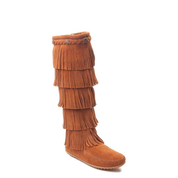 Alternate view of Womens Minnetonka 5 Layer Fringe Boot