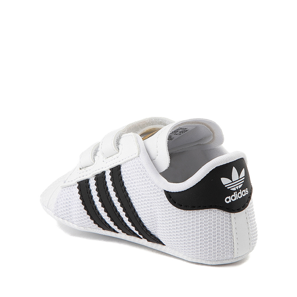alternate view adidas Superstar Athletic Shoe - Baby - White / BlackALT1