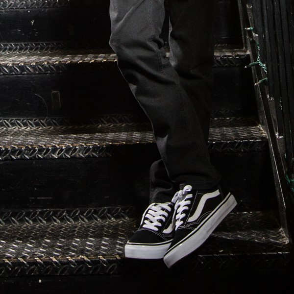 alternate view Vans Old Skool Skate Shoe - Little Kid - BlackALT6