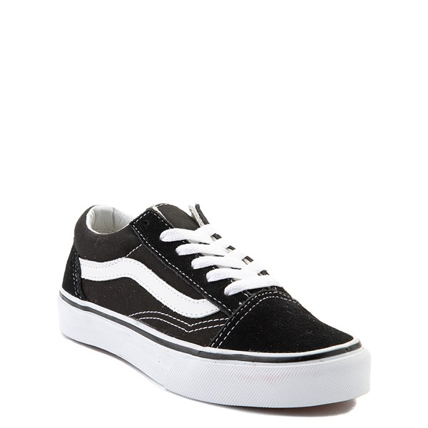 alternate view Vans Old Skool Skate Shoe - Little Kid - Black / WhiteALT1