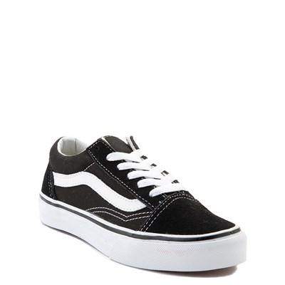 Alternate view of Vans Old Skool Skate Shoe - Little Kid - Black / White