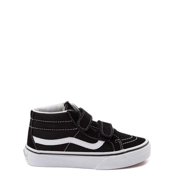 Default view of Vans Sk8 Mid V Skate Shoe - Little Kid - Black / White