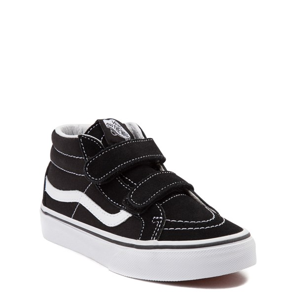 Alternate view of Vans Sk8 Mid V Skate Shoe - Little Kid - Black / White