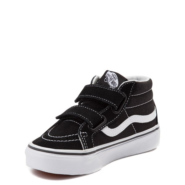 alternate view Vans Sk8 Mid Reissue V Skate Shoe - Little Kid - BlackALT3