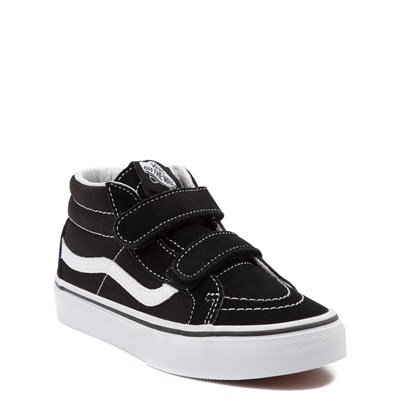 Alternate view of Vans Sk8 Mid V Skate Shoe - Little Kid - Black
