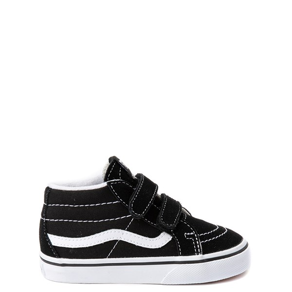 Default view of Vans Sk8 Mid V Skate Shoe - Baby / Toddler - Black / White
