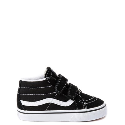 Main view of Vans Sk8 Mid V Skate Shoe - Baby / Toddler - Black / White