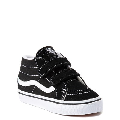 Alternate view of Vans Sk8 Mid V Skate Shoe - Baby / Toddler - Black