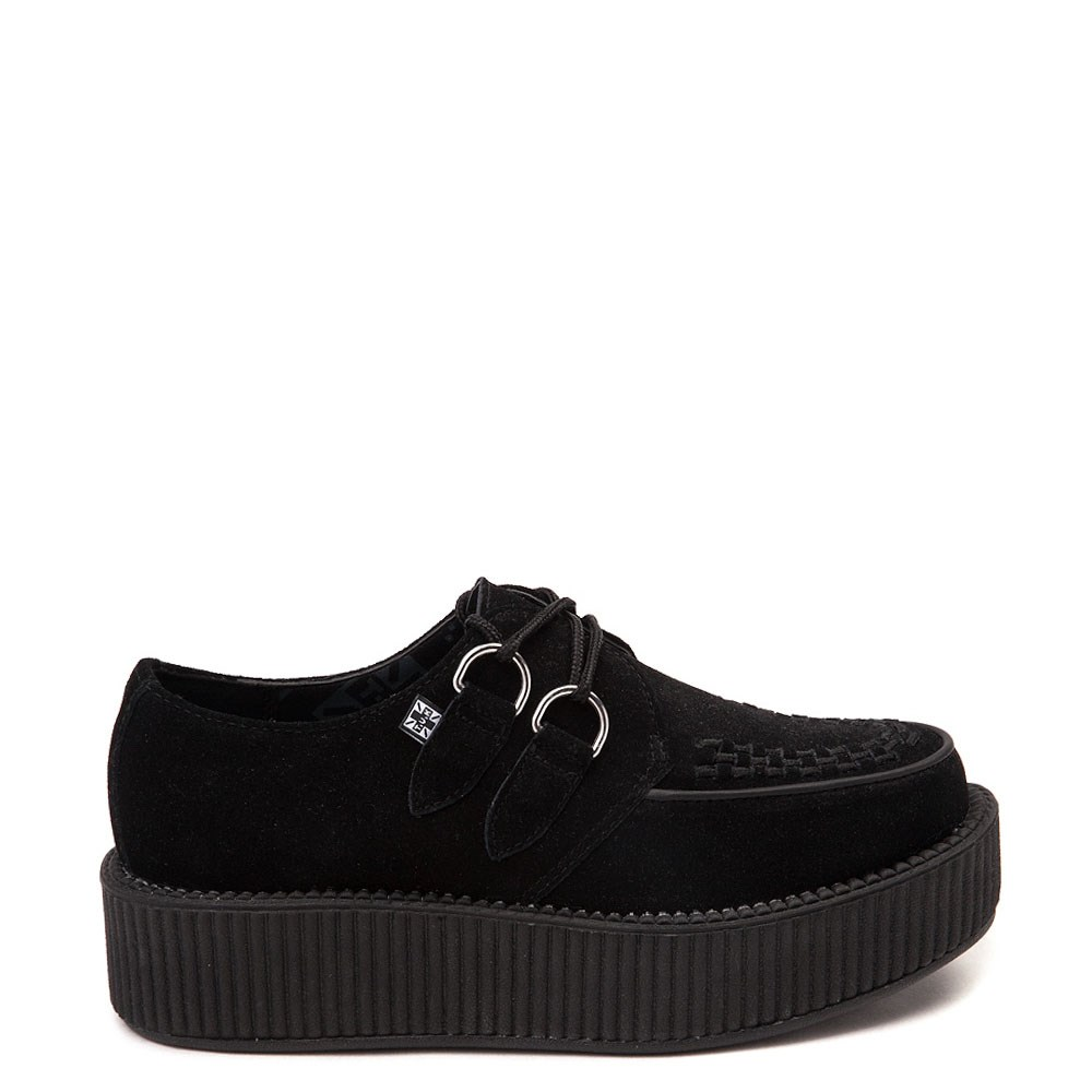 T.U.K. Mondo Creeper Casual Platform Shoe - Black