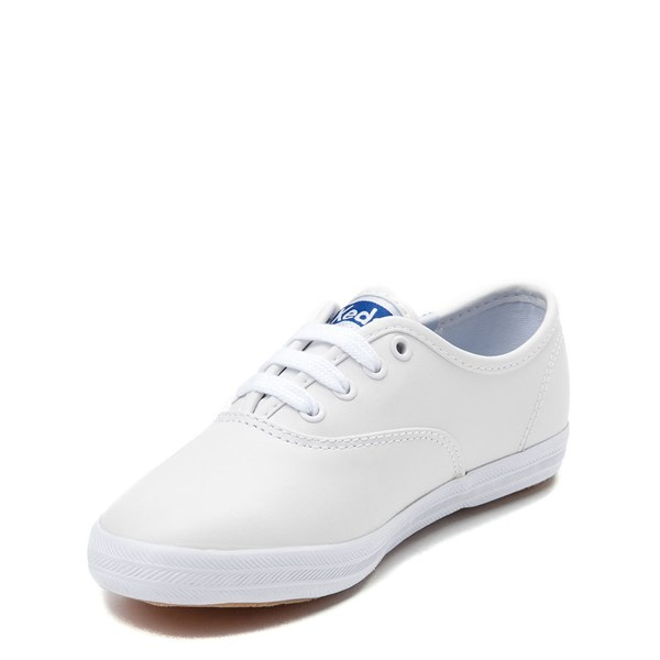 alternate view Keds Champion Leather Casual Shoe - Little Kid / Big Kid - WhiteALT3
