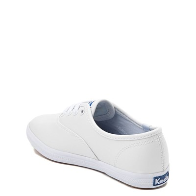 Alternate view of Keds Champion Leather Casual Shoe - Little Kid / Big Kid - White
