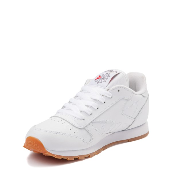 alternate view Reebok Classic Athletic Shoe - Little Kid - White / GumALT2