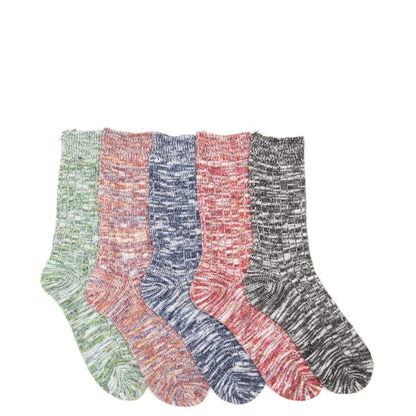 Default view of Womens Marled Crew Socks 5 Pack