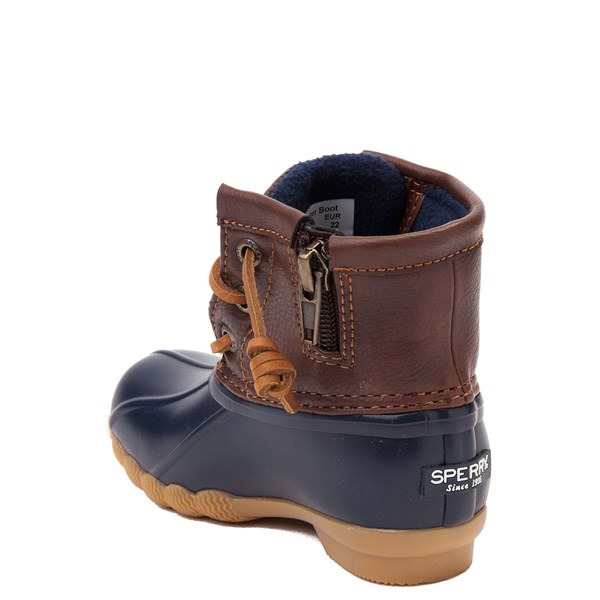 alternate view Sperry Top-Sider Saltwater Boot - Toddler / Little Kid - Navy / BrownALT2