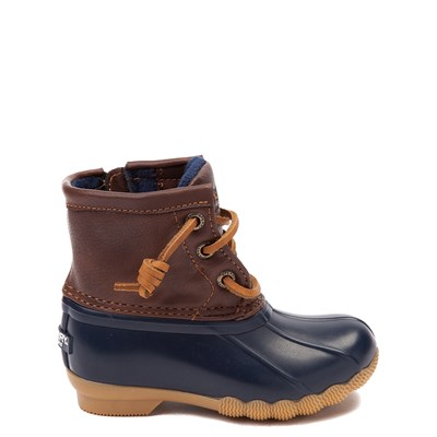 Main view of Sperry Top-Sider Saltwater Boot - Toddler / Little Kid - Navy / Brown