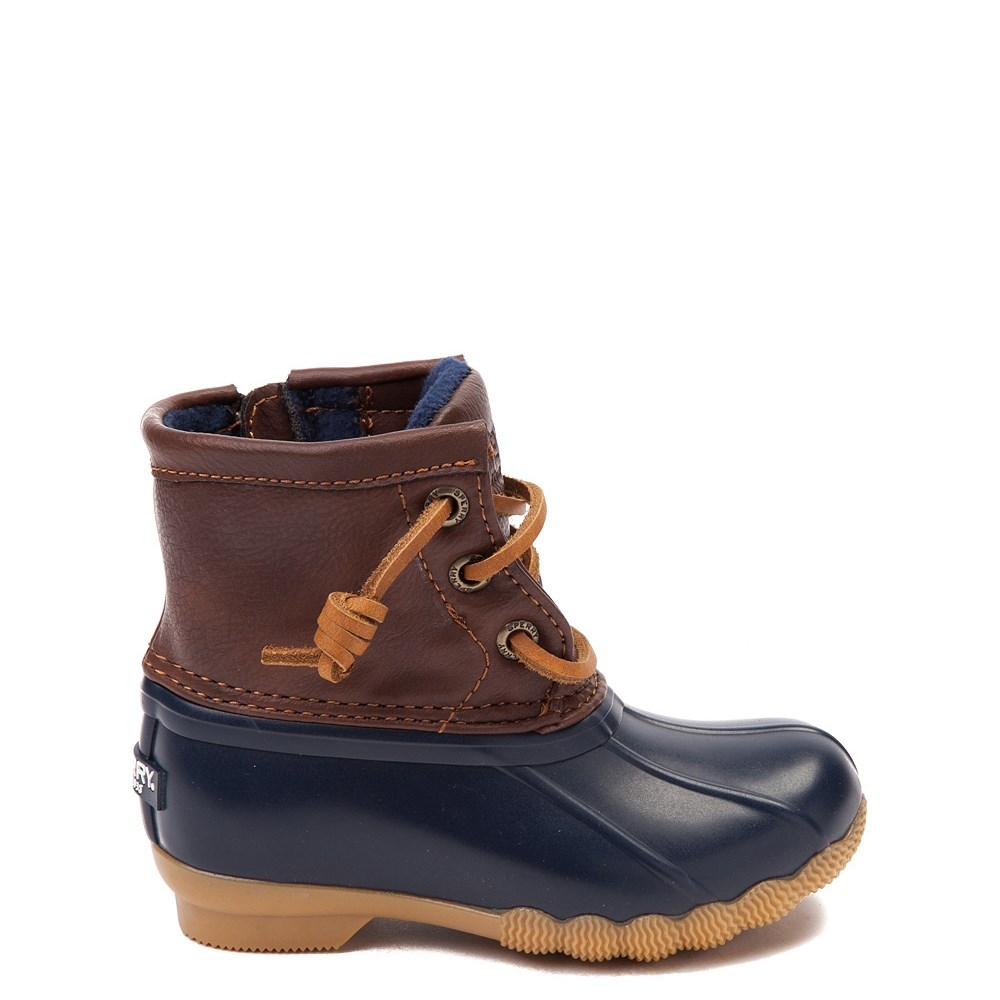 Sperry Top-Sider Saltwater Boot - Toddler / Little Kid - Navy / Brown